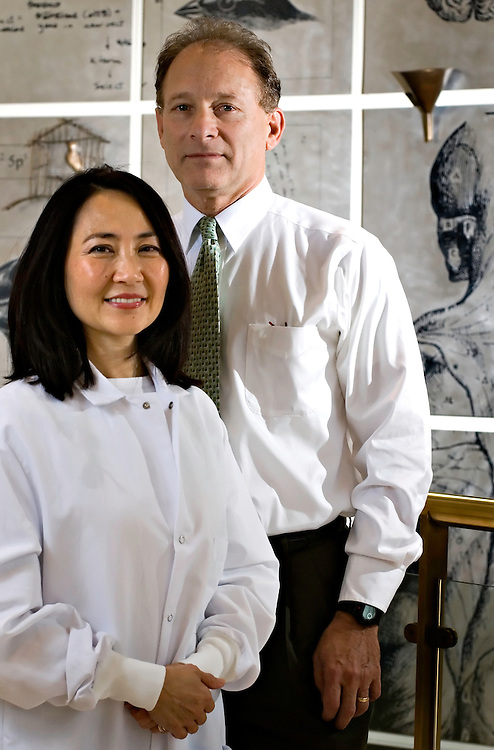 Rockville, Maryland - The husband and wife team of Kim Lee Sim, head of Manufacturing and Dr. Stephen Hoffman, Chief Scientific Officer and CEO of  Sanaria, Inc.  ..Photo © Susana Raab 2007
