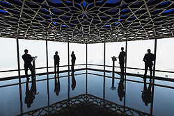"""world's highest observation deck """"At the Top Sky"""" in Burj Khalifa tower in Dubai United Arab Emirates"""