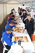 V8 Supercar drivers sign autographs. 2011 Supercheap Auto Bathurst 1000 ~ Race 20 of the 2011 V8 Supercar Championship Series. Mount Panorama, Bathurst NSW on Wednesday 5 October 2011. Photo © Clay Cross / photosport.co.nz