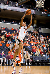 Virginia forward Lyndra Littles (1) leaps for a layup against Clemson.  The Virginia Cavaliers women's basketball team defeated the Clemson Tigers 83-71 at the John Paul Jones Arena in Charlottesville, VA on February 21, 2008.