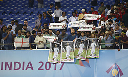 October 25, 2017 - Kolkata, West Bengal, India - England fan celebrates their win against Brazil at the FIFA U 17 World Cup India 2017 Semi Final match in Kolkata. Players of England and Brazil in action during the FIFA U 17 World Cup India 2017 Semi Final match on October 25, 2017 in Kolkata. (Credit Image: © Saikat Paul/Pacific Press via ZUMA Wire)