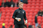 Stoke City goalkeeper Jakob Haugaard  during the The FA Cup third round match between Doncaster Rovers and Stoke City at the Keepmoat Stadium, Doncaster, England on 9 January 2016. Photo by Simon Davies.