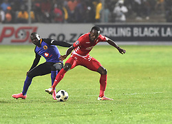 South Africa: Johannesburg: Kaizer Chiefs player Godfrey Walusimbi and Highlands Park player Petr Shalulile during the Premier Soccer League (PSL) at Makhulong stadium in Tembisa, Gauteng.<br />02.10.2018<br />Picture: Itumeleng English/African News Agency (ANA)