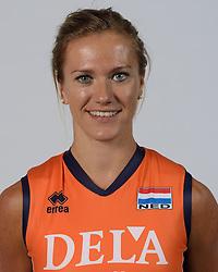 21-05-2014 NED: Selectie Nederlands volleybal team vrouwen, Arnhem<br /> Op Papendal werd het Nederlands team volleybal seizoen 2014-2015 gepresenteerd / Maret Grothues