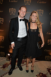 SAM SANGSTER and MADELEINE CREWE READ at the 26th Cartier Racing Awards held at The Dorchester, Park Lane, London on 8th November 2016.
