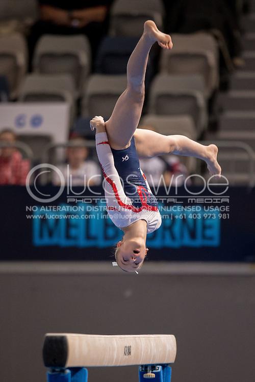 Beam, May 24, 2014 - GYMNASTICS : Australian National Gymnastics Championships, Hisense Arena, Melbourne, Victoria, Australia. Credit: Lucas Wroe / Winkipop Media