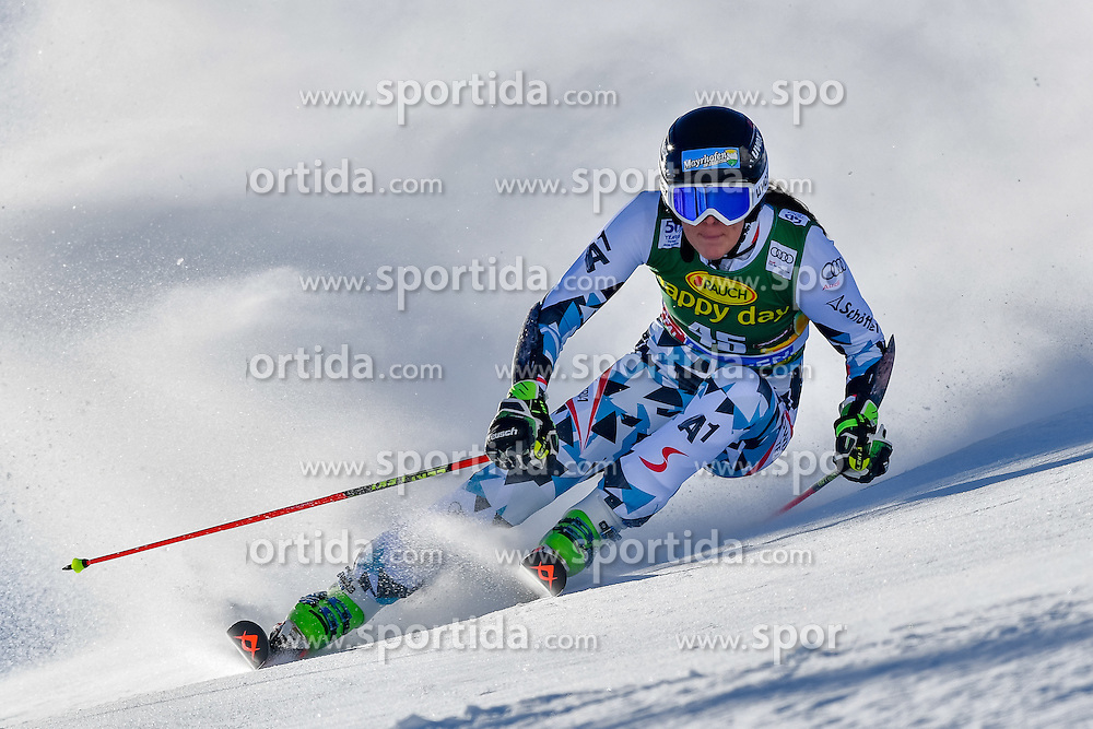 22.10.2016, Rettenbachferner, Soelden, AUT, FIS Weltcup Ski Alpin, Soelden, Riesenslalom, Damen, 1. Durchgang, im Bild Rosina Schneeberger (AUT) // Rosina Schneeberger of Austria in action during 1st run of ladies Giant Slalom of the FIS Ski Alpine Worldcup opening at the Rettenbachferner in Soelden, Austria on 2016/10/22. EXPA Pictures &copy; 2016, PhotoCredit: EXPA/ Nisse Schmid<br /> <br /> *****ATTENTION - OUT of SWE*****
