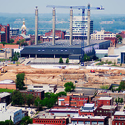 Construction on the Kauffman Center for the Performing Arts in downtown Kansas City, Missouri getting underway in May 2007.