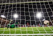 &Ouml;STERSUND, SWEDEN - 2017-09-28: Brwa Nouri of Ostersunds FK g&ouml;r 1-0 p&aring; straff under UEFA Europa League group J matchen mellan &Ouml;stersunds FK och Hertha Berlin SC p&aring; J&auml;mtkraft Arena den 28 September, 2017 in &Ouml;stersund, Sweden. Foto: Nils Petter Nilsson/Ombrello<br /> ***BETALBILD***