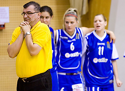 Coach of Celje Zeljko Ciglar at finals match of Slovenian 1st Women league between KK Hit Kranjska Gora and ZKK Merkur Celje, on May 14, 2009, in Arena Vitranc, Kranjska Gora, Slovenia. Merkur Celje won the third time and became Slovenian National Champion. (Photo by Vid Ponikvar / Sportida)