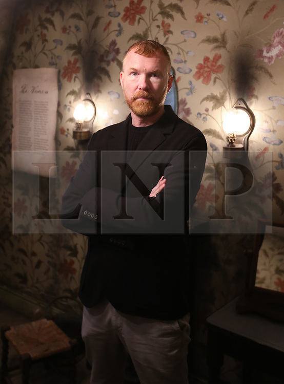 © Licensed to London News Pictures. 04/10/2015. London, UK. Mark Palmer-Edgecumbe, owner of the Jack the Ripper Museum, stands inside the museum after a planned protest was cancelled. Photo credit: Peter Macdiarmid/LNP