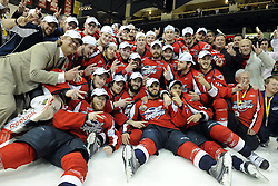 The Windsor Spitfires won the 2010 MasterCard Memorial Cup in Brandon, MB with a 9-1 win over the host Wheat Kings on Sunday May 23. Photo by Aaron Bell/CHL Images