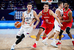Stefan Jovic of Serbia vs Zoltan Perl of Hungary during basketball match between National Teams of Serbia and Hungary at Day 11 in Round of 16 of the FIBA EuroBasket 2017 at Sinan Erdem Dome in Istanbul, Turkey on September 10, 2017. Photo by Vid Ponikvar / Sportida
