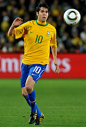 28.06.2010, Ellis Park Stadium, Johannesburg, RSA, FIFA WM 2010, Brazil (BRA) vs Chile.C (CHI), im Bild Kaka (Brasile). EXPA Pictures © 2010, PhotoCredit: EXPA/ InsideFoto/ Giorgio Perottino +++ for Austria and Slovenia only +++ / SPORTIDA PHOTO AGENCY