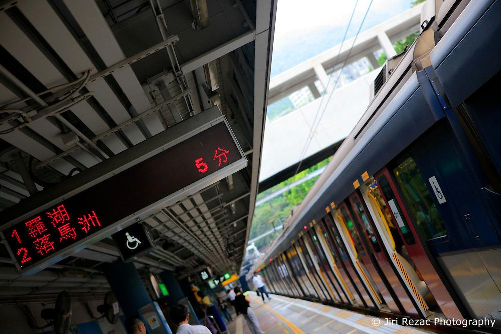 CHINA HONG KONG 27MAY10 - Electric train on MTR mass transit rail system  in Hong Kong...jre/Photo by Jiri Rezac..© Jiri Rezac 2010