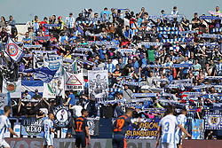 February 24, 2019 - Leganes, Madrid, Spain - Supporters of Leganes in action during La Liga Spanish championship, football match between Leganes and Valencia, February 24th, Butarque stadium, in Leganes, Madrid, Spain. (Credit Image: © AFP7 via ZUMA Wire)
