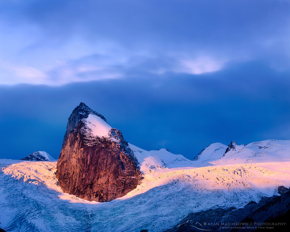 Dawn over Hounds Tooth Spire and Bugaboo Glacier, The Bugaboos / Purcell Mountains British Columbia