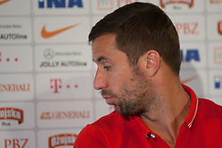 24.05.2014, Freilichtmuseum, Bad Tatzmannsdorf, AUT, FIFA WM, Vorbereitung Kroatien, Pressekonferenz, im Bild Darijo Srna // during the Trainingscamp of Team Croatia for Preparation of the FIFA Worldcup Brasil2014 at the Freilichtmuseum in Bad Tatzmannsdorf, Austria on 2014/05/24. EXPA Pictures © 2014, PhotoCredit: EXPA/ Sascha Trimmel