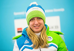 Polona Klemencic during presentation of Slovenian Young Athletes before departure to EYOF (European Youth Olympic Festival) in Vorarlberg and Liechtenstein, on January 21, 2015 in Bled, Slovenia. Photo by Vid Ponikvar / Sportida