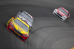 June 10, 2018 - Brooklyn, Michigan, United States of America - Joey Logano (22) races off turn one during the FireKeepers Casino 400 at Michigan International Speedway in Brooklyn, Michigan. (Credit Image: © Stephen A. Arce/ASP via ZUMA Wire)