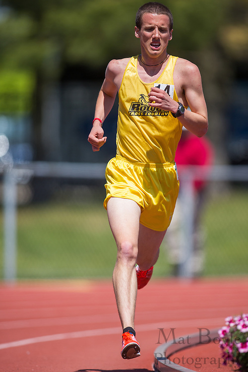 Rowan University's Robert Buzby competes in the men's 5000 meter at the NJAC Track and Field Championships at Richard Wacker Stadium on the campus of  Rowan University  in Glassboro, NJ on Sunday May 5, 2013. (photo / Mat Boyle)