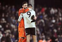 Football - 2018 / 2019 Premier League - Fulham vs. Tottenham Hotspur<br /> <br /> Hugo Lloris of Spurs consoles Aleksandar Mitrovic at the final whistle, at Craven Cottage.<br /> <br /> COLORSPORT/ANDREW COWIE