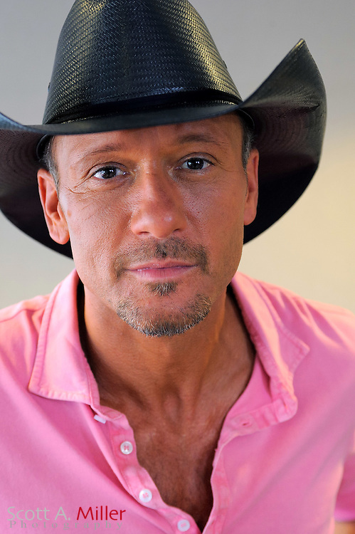 Portrait of Tim McGraw after the 'Brothers of the Sun' Tour Kick-Off press conference on Friday June 1, 2012 in Tampa, Fla. ©2012 Scott A. Miller