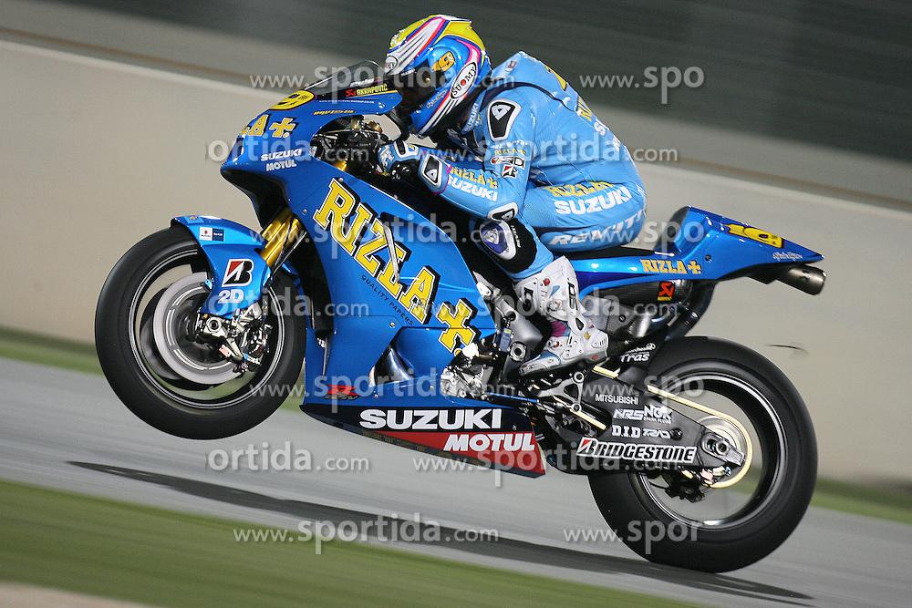10.04.2010, Losail Circuit, Doha, QAT, MotoGP Qatar 2010, Qualification, im Bild Alvaro Bautista - Rizla Suzuki team. EXPA Pictures © 2010, PhotoCredit: EXPA/ InsideFoto/ Semedia / SPORTIDA PHOTO AGENCY