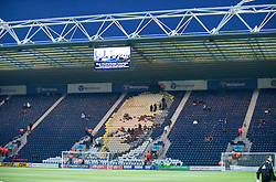 PRESTON, ENGLAND - Saturday, January 3, 2009: Liverpool supporters begin to fill up the Bill Shankly stand at Preston North End's  Deepdale Stadium. (Photo by David Rawcliffe/Propaganda)