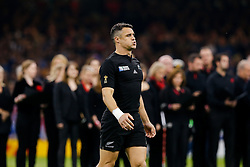New Zealand Fly-Half Daniel Carter psychs himself up - Mandatory byline: Rogan Thomson/JMP - 07966 386802 - 02/10/2015 - RUGBY UNION - Millennium Stadium - Cardiff, Wales - New Zealand v Georgia - Rugby World Cup 2015 Pool C.