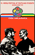 Jamaica/Cuba Youth Festival Poster - Manley meets Castro