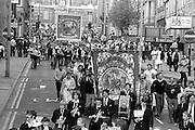 Ackton Hall Branch banner,1983 Yorkshire Miner's Gala. Barnsley.