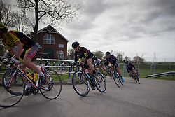 Alexis Ryan (USA) of CANYON//SRAM Racing rides mid-pack during Stage 1b of the Healthy Ageing Tour - a 77.6 km road race, starting and finishing in Grijpskerk on April 5, 2017, in Groeningen, Netherlands.