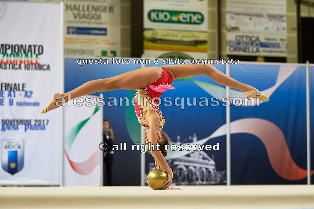 Benedetta Schifano from Iris team during the Italian Rhythmic Gymnastics Championship in Padova, 25 November 2017.