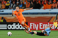 FOOTBALL - FIFA WORLD CUP 2010 - 1/2 FINAL - URUGUAY v NETHERLANDS - 6/07/2010 - WESLEY SNEIJDER (NED)<br /> PHOTO FRANCK FAUGERE / DPPI