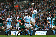 Simon Hammersley of Newcastle Falcons catches during the Aviva Premiership match at Welford Road, Leicester<br /> Picture by Andy Kearns/Focus Images Ltd 0781 864 4264<br /> 06/09/2014