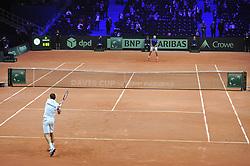 November 23, 2018 - Lille, France - Finale Coupe Davis 2018 - Jo Wilfried Tsonga - France - Marin Cilic - Croatie (Credit Image: © Panoramic via ZUMA Press)