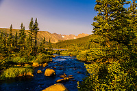 South St. Vrain Creek and Long Lake in the Indian Peaks Wilderness Area, near Ward, Colorado USA.