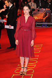 Jessica Brown attends the UK premiere of War Horse at Odeon Leicester Square, London, Sunday January 8, 2012. Photo By i-Images..