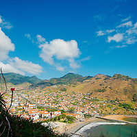 Aerial view of City of Machico
