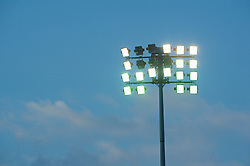 BARRY, WALES - Tuesday, April 30, 2013: A floodlight at Barry Town's Jenner Park during the Under-15's International Friendly match between Wales and Switzerland. (Pic by David Rawcliffe/Propaganda)