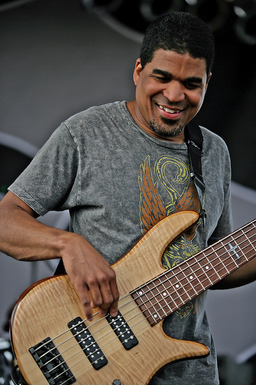 Oteil Burbridge is a Grammy Award-nominated American multi-instrumentalist, specializing on the bass guitar, trained in playing jazz and classical music from an early age.<br /> <br /> He has achieved fame primarily on bass guitar during the current resurgence of the Allman Brothers Band from 1989 through the present day. He was also a founding member of the band the Aquarium Rescue Unit, and has worked with other musicians who include Bruce Hampton, Trey Anastasio, God Street Wine, Bill Kreutzmann and The Derek Trucks Band, with whom his brother Kofi Burbridge is the keyboardist and flautist.<br /> <br /> Burbridge joined the Allman Brothers in 1997 and has appeared on the CDs Peakin' at the Beacon (2000), Hittin' the Note (2003), One Way Out (2004) as well as the DVD Live at the Beacon Theatre (2003, certified Platinum 2004).<br /> <br /> In 2000, Oteil formed a solo band called Oteil and the Peacemakers based out of Birmingham, Alabama and featuring musicians Matt Slocum keyboards, Mark Kimbrell on guitar, Chris Fryar on drums, and vocalist Paul Henson, a carry over from the post-Colonel Aquarium Rescue Unit releases. They released their first album, Love of a Lifetime, that same year. That was followed up in 2003 by the CD/DVD set entitled Family Secret. In 2005, Burbridge took his music in a greater spiritual direction for their third album titled Believer.<br /> <br /> Oteil Burbridge joined the Bill Kreutzmann Trio alongside Bill Kreutzmann of the Grateful Dead and Scott Murawski of Max Creek, as the BK3. <br /> <br /> Oteil's trademarks include performing barefoot, wearing tie-dye shirts, and performing the acoustic guitar classic &quot;Little Martha&quot; from Eat a Peach on his six-stringed bass guitar. Oteil is most notably recognized for his ability to incorporate scat-singing into his improvised bass solos. His bass style is heavily influenced by Jaco Pastorius, especially his use of bass chords which are used in his bass improvization.