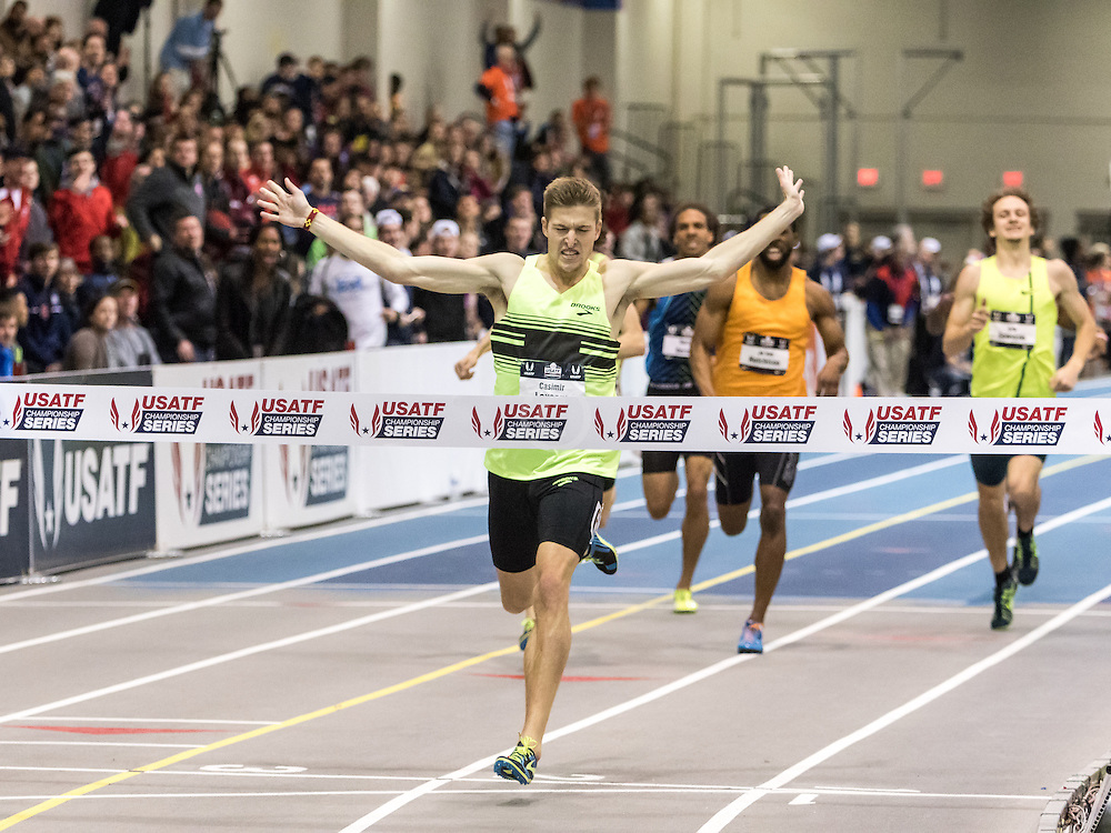 USATF Indoor Track & Field Championships: Men's 600, Cas Loxsom wins with new American record