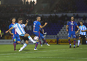 Peter MacDonald misses a good chance to win the game fro Dundee - Inverness Caledonian Thistle v Dundee, SPFL Premiership at Tulloch Caledonian Stadium<br /> <br />  - &copy; David Young - www.davidyoungphoto.co.uk - email: davidyoungphoto@gmail.com