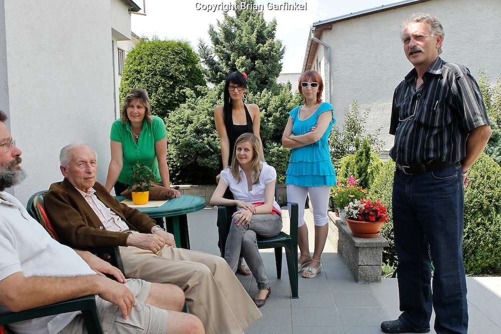 On the back patio of Peter's house in Zilina, Slovakia on Thursday, July 7th 2011.  (Photo by Brian Garfinkel)