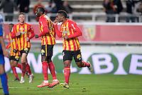 Joie but - Wylan CYPRIEN - 19.12.2014 - Lens / Nice - 19e journee Ligue 1<br />Photo : Aurelien Meunier / Icon Sport