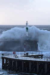 © Licensed to London News Pictures. 27/12/2013. Aberystywyth, UK 80mph plus winds hit the Welsh coastal town of Aberystwyth.  Photo credit : Jon Freeman/LNP