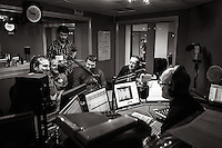 BBC Hull, Hull, East Yorkshire, United Kingdom, 27 March, 2014. Pictured: Cuba Drive play a live session for BBC Introducing presented by Alan Raw