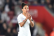 Demi Stokes (3) of England during the FIFA Women's World Cup UEFA Qualifier match between England Ladies and Wales Women at the St Mary's Stadium, Southampton, England on 6 April 2018. Picture by Graham Hunt.