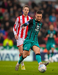 STOKE-ON-TRENT, ENGLAND - Saturday, January 25, 2020: Swansea City's captain Matt Grimes during the Football League Championship match between Stoke City FC and Swansea City FC at the Britannia Stadium. (Pic by David Rawcliffe/Propaganda)